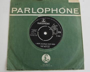 "Beatles I WANT TO HOLD YOU HAND 1963 UK 7"" 1st EX+ AUDIO"